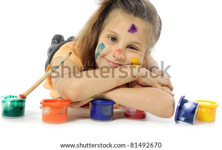 little artist - stock photo