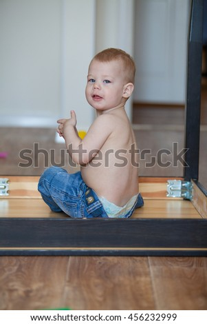 little boy in the game - stock photo