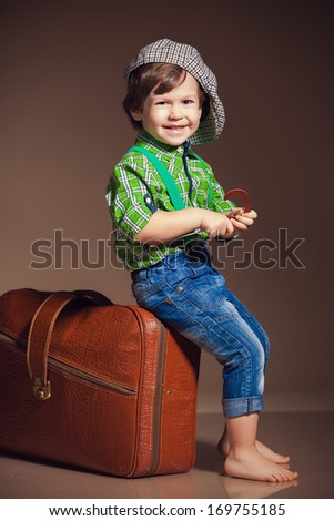 little cute boy - stock photo