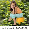 Little farmer - stock photo