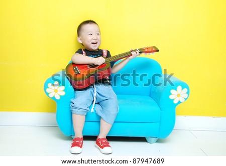 little happy  Asian  boy - stock photo