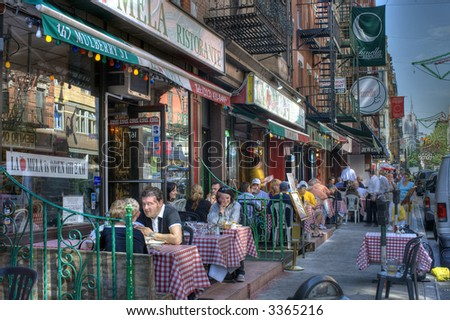 Little Italy in New York City,Manhattan, United states of America - stock photo