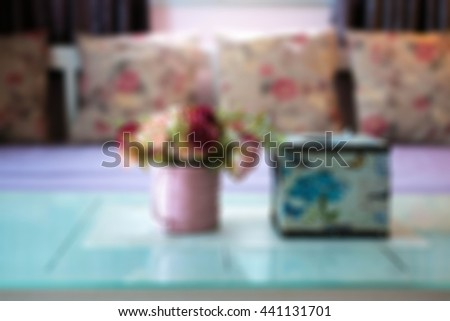 living room blurred background