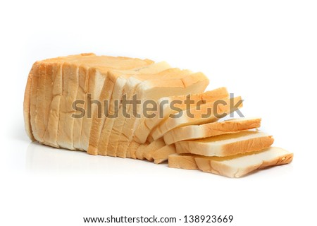 loaf of bread  isolated white.