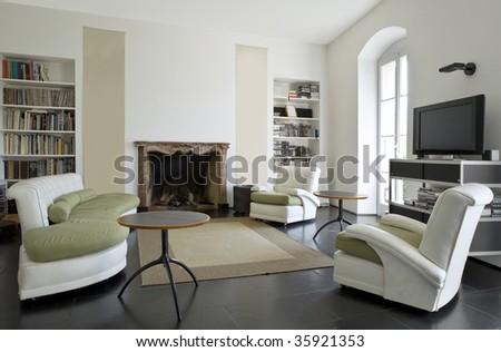 loft interior - stock photo