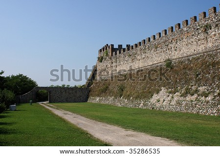 Lonato (Bs),Lombardy, the Fortress of the twelfth century,the walls