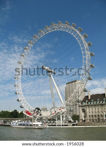 London Eye Ferris Wheel - stock photo