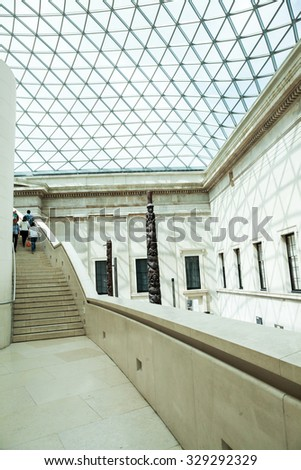 29. 07. 2015, LONDON, UK - British Museum view and details