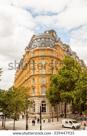 29. 07. 2015. LONDON, UK - Urban landscape and street scenes - stock photo