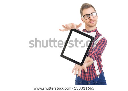 Look, this is cool - stock photo