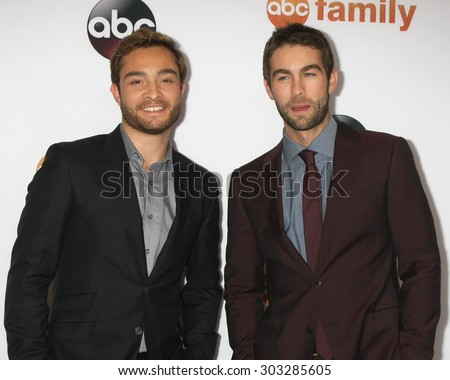 , LOS ANGELES - AUG 4:  Ed Westwick, Chace Crawford at the ABC TCA Summer Press Tour 2015 Party at the Beverly Hilton Hotel on August 4, 2015 in Beverly Hills, CA - stock photo