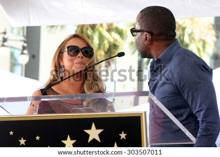 , LOS ANGELES - AUG 5:  Mariah Carey, Lee Daniels at the Mariah Carey Hollywood Walk of Fame Ceremony at the W Hollywood on August 5, 2015 in Los Angeles, CA - stock photo