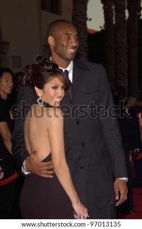 20041114: Los Angeles, CA: Basketball star KOBE BRYANT & wife at the 32nd Annual American Music Awards at the Shrine Auditorium, Los Angeles, CA. - stock photo