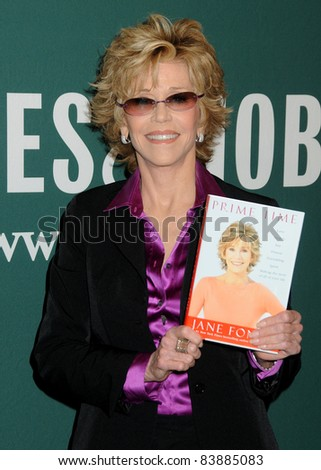 "8-15-11 Los Angeles, CA Jane Fonda book Signing, ""Prime Time: Love, Health, Sex, Fitness, Friendship, Spirit - Making the Most of All of Your Life."" Barnes & Noble, The Grove. By: Byron Purvis/AdMedia - stock photo"