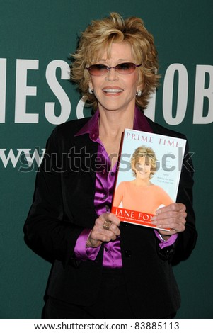 """8-15-11 Los Angeles, CA Jane Fonda book Signing, """"Prime Time: Love, Health, Sex, Fitness, Friendship, Spirit - Making the Most of All of Your Life."""" Barnes & Noble, The Grove. By: Byron Purvis/AdMedia - stock photo"""