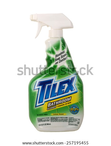 Los Angeles California,Dec 14th 2014:; Very Nice image of the Best Product for cleaning tile in Kitchen or bathroom - stock photo