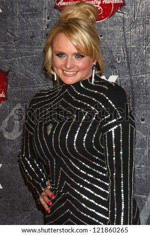 .LOS ANGELES - DEC 10:  Miranda Lambert arrives to the American Country Awards 2012 at Mandalay Bay Resort and Casino on December 10, 2012 in Las Vegas, NV - stock photo