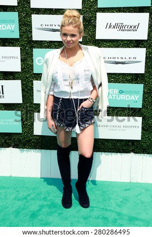 0LOS ANGELES - MAY 16:  Alli Simpson at the Super Saturday LA at the Barker Hanger on May 16, 2015 in Santa Monica, CA - stock photo