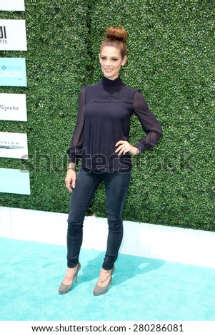 0LOS ANGELES - MAY 16:  Ashley Greene at the Super Saturday LA at the Barker Hanger on May 16, 2015 in Santa Monica, CA - stock photo