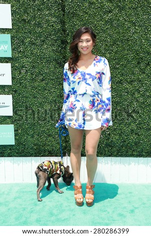 0LOS ANGELES - MAY 16:  Jenna Ushkowitz at the Super Saturday LA at the Barker Hanger on May 16, 2015 in Santa Monica, CA - stock photo