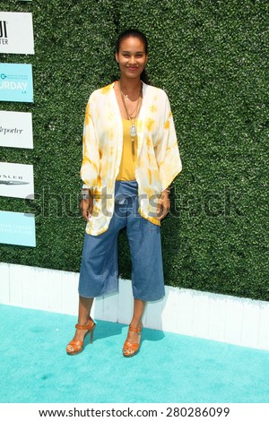 0LOS ANGELES - MAY 16:  Joy Bryant at the Super Saturday LA at the Barker Hanger on May 16, 2015 in Santa Monica, CA - stock photo
