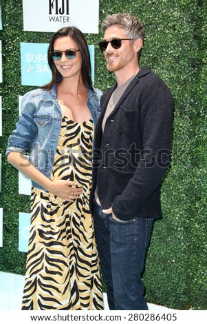 0LOS ANGELES - MAY 16:  Odette Annable, Dave Annable at the Super Saturday LA at the Barker Hanger on May 16, 2015 in Santa Monica, CA - stock photo