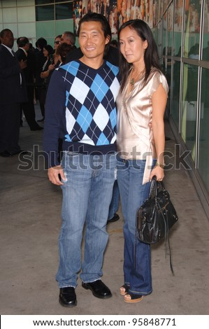 """""""Lost"""" star DANIEL DAE KIM & wife at the world premiere, in Hollywood, of """"The Lake House"""". June 13, 2006  Los Angeles, CA  2006 Paul Smith / Featureflash - stock photo"""