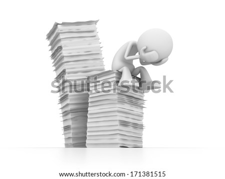 lot of work - stock photo
