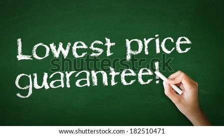 """Lowest Price Guarantee"" Chalk Illustration - stock photo"
