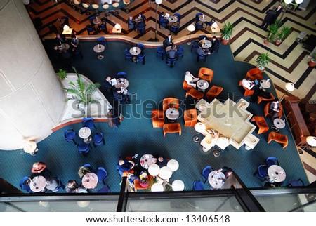 .luxuri hotel indoor panorama - stock photo