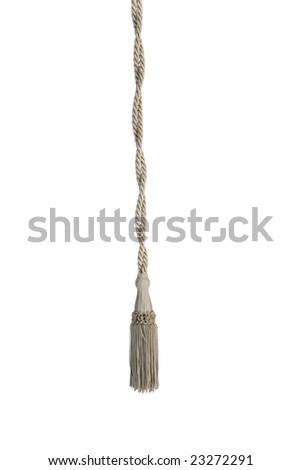 Luxury curtain isolated on white background - stock photo