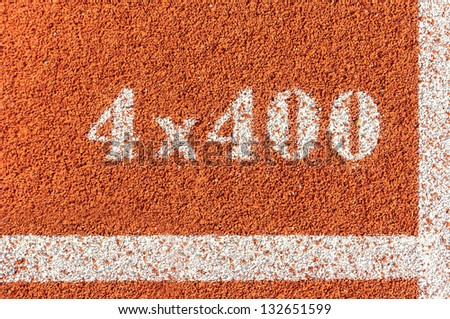 4*400 M. in running track of stadium