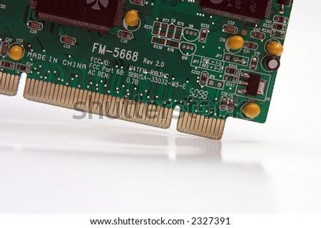 Macro of a circuit board. - stock photo