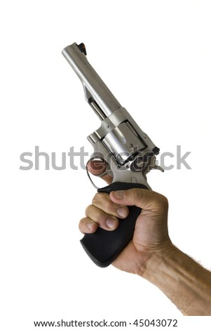 44 Magnum Handgun isolated - stock photo
