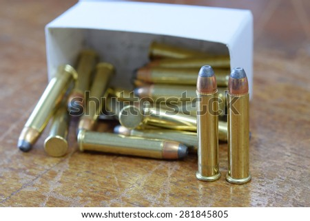 .22 magnum jacketed hollow point - stock photo