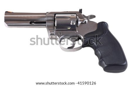357 magnum revolver isolated on white - stock photo