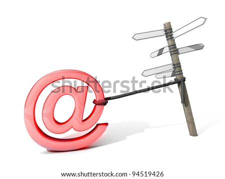 """MAIL"" On a chain - stock photo"