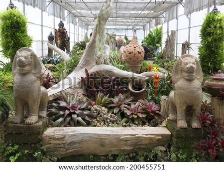 Majesty Queen Sirikit Botanic Garden, Chiang Mai, Thailand. - stock photo