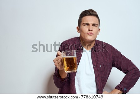 man with beer, hangover, alcohol