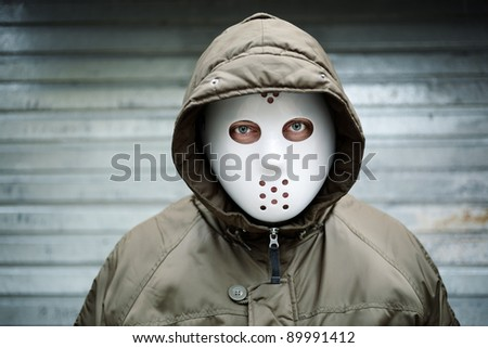 man with mask - stock photo