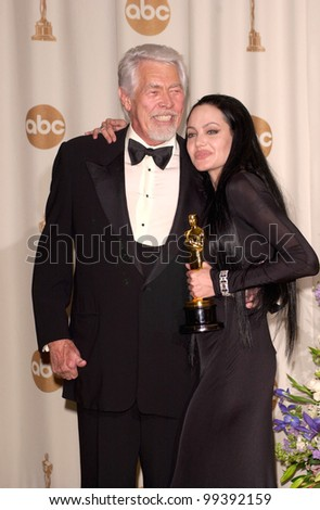 26MAR2000:  Best Supporting Actress ANGELINA JOLIE & actor JAMES COBURN at the 72nd Academy Awards.  Paul Smith / Featureflash - stock photo