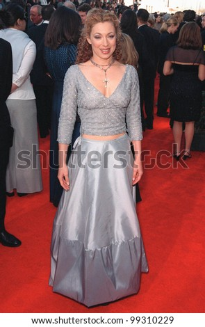 "07MAR99: ""ER"" star ALEX KINGSTON at the Screen Actors Guild Awards.  Paul Smith / Featureflash"