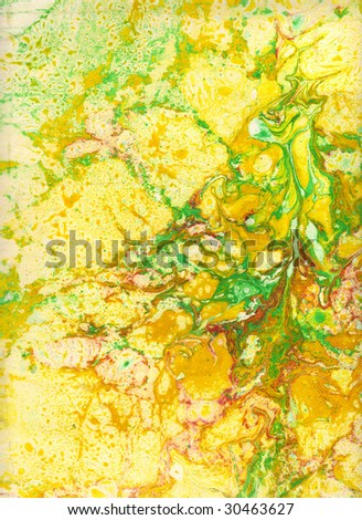 Marbled background or marbled paper - stock photo