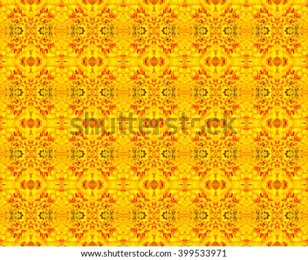 Marigold seamless and patterns backgrounds - stock photo