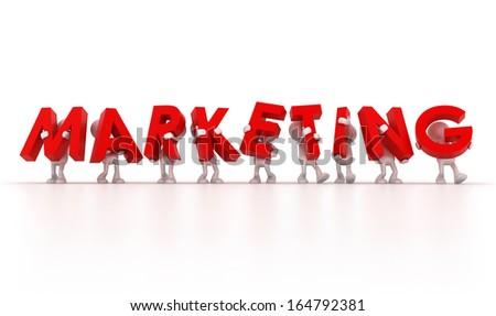 Marketing team - stock photo