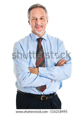 Mature businessman portrait - stock photo