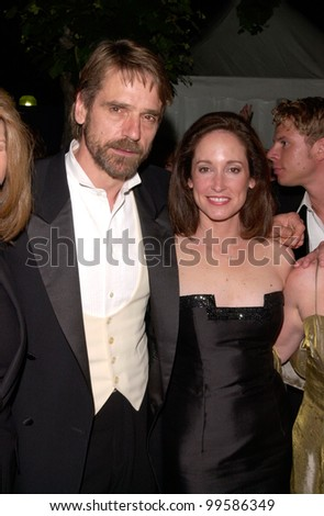 17MAY2000: Actor JEREMY IRONS (right) with LILY TARTIKOFF at Cure By The Shore benefit party at the Cannes Film Festival.  Paul Smith / Featureflash