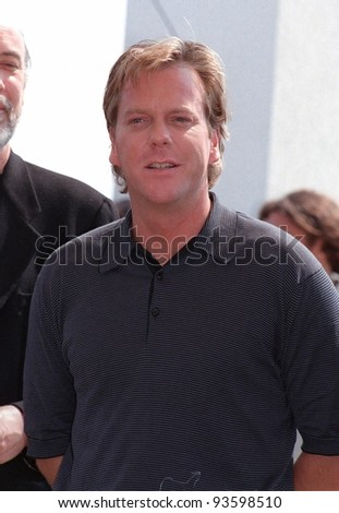 "14MAY98: Actor KEIFER SUTHERLAND at the Cannes Film Festival to promote his movie, ""Dark City."""
