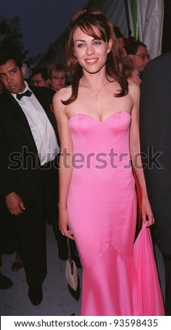 21MAY98:  Actress/model ELIZABETH HURLEY at AmFAR's Cinema Against AIDS gala at Moulin de Mougins, France.