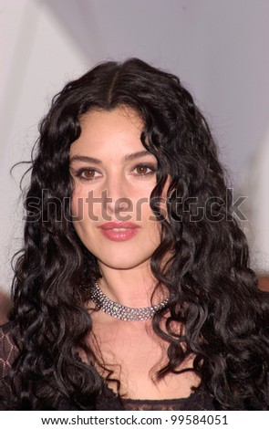 11MAY2000: Actress MONICA BELLUCCI at the Cannes Film Festival to promote her new movie Under Suspicion.  Paul Smith/Featureflash  -  Cannes phone: +33 620 21 47 78 - stock photo